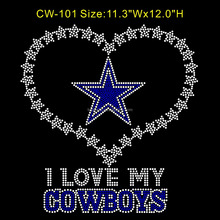 lron on rhinestone appliques Cowboys for design of t shirt