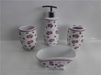 The roses Decal Ceramic bathroom set for Dubai market