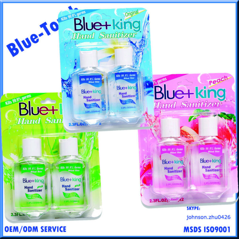 Blue-Touch Wholesale ethyl alcohol chemical formula alcohol based waterless kid2.3 oz hand sanitizer