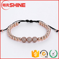 Shiny Polish Rose Gold Plated Brass Bead For Jewelry Making