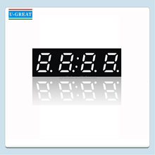 1.8 Inch White Color 4 Digits 7 Segment LED Display