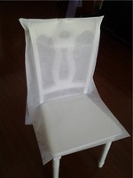 20''*38'' White Non-woven Tissue Banquet Chair Cover