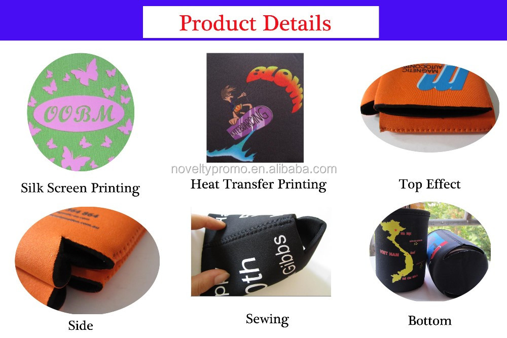 Customized Printed Foldable Can Cooler For Sale