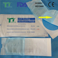 Paper/Poly Pouches for Use in Steam/Gas Sterilization
