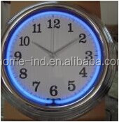 15'' Quartz Analog Type High Quality Neon Light wall Clock