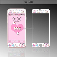 MYX Wholesale 3D full cover tempered glass screen protector film for iphone 7