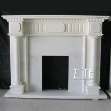 Popular Design Hand Carved fireplaces with door