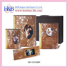 Graceful golden and crystal 10x15 photo album