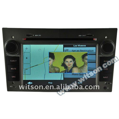opel astra 7 inch double din car dvd with gps with SD card for Music and Movie