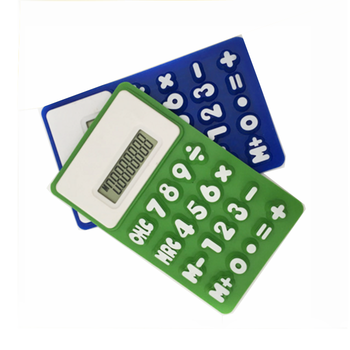 fashion school stationery 8 digital rubber silicon calculator