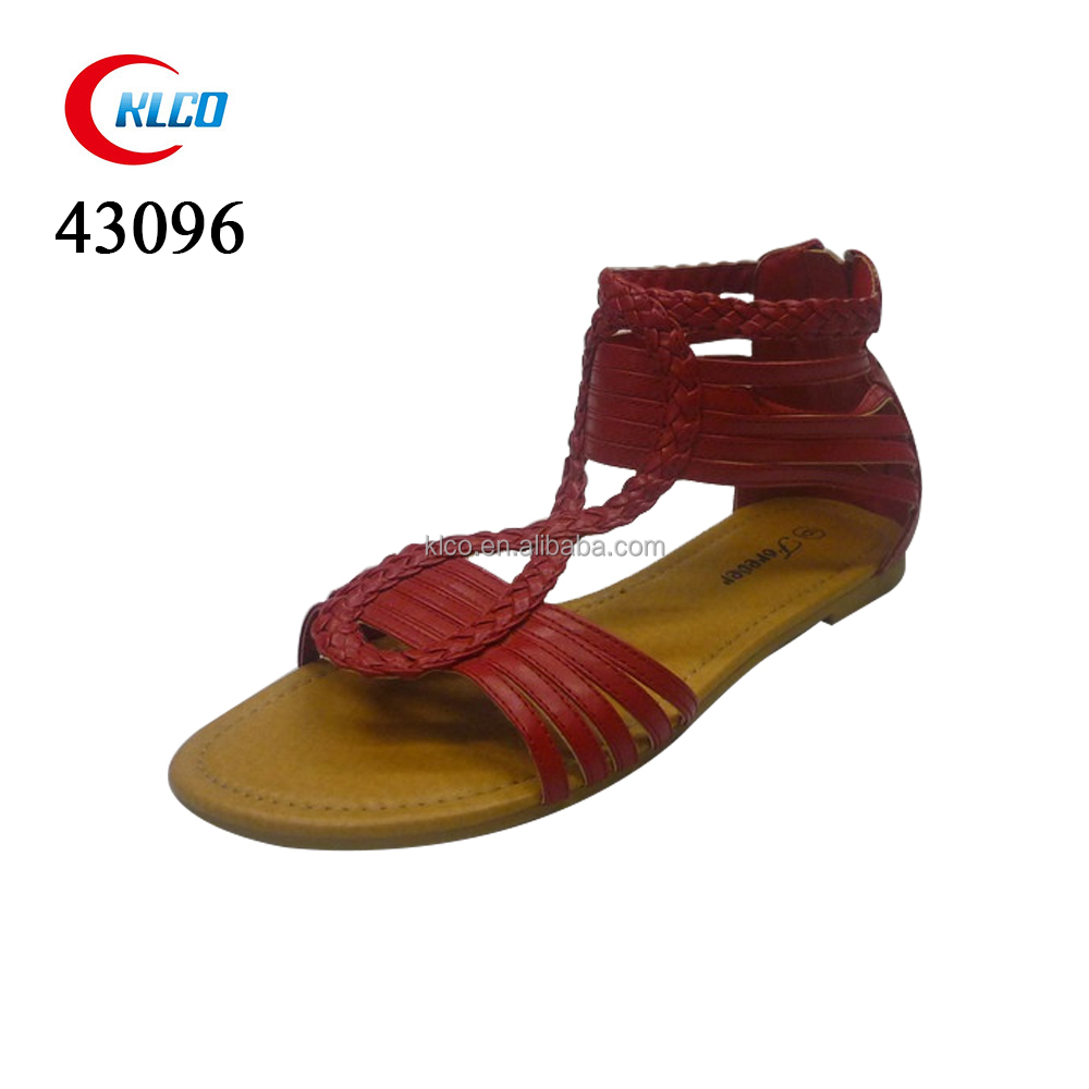 2015 fashion flat new design style ladies flat sandals
