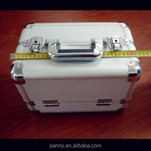 silver potable aluminum cosmetic case travel makeup case
