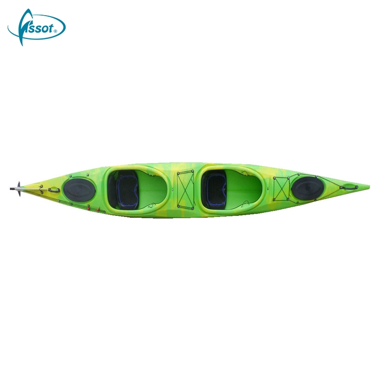 2018 Hot sale cheap plastic canoe 2 person fishing leisure kayak mould