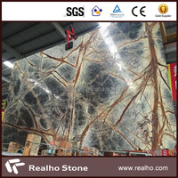 Tropical Rainforest Green Marble Slabs for Building Decoration
