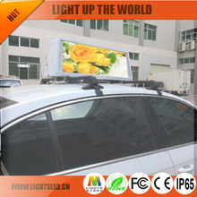 p5 ad led car advertising signs outdoor programmable white led sign 3G WIFI Taxi