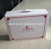 Professional Packaging Team White Cardboard Box Dress Packing Corrugated Cardboard Mailer Shipping Boxes