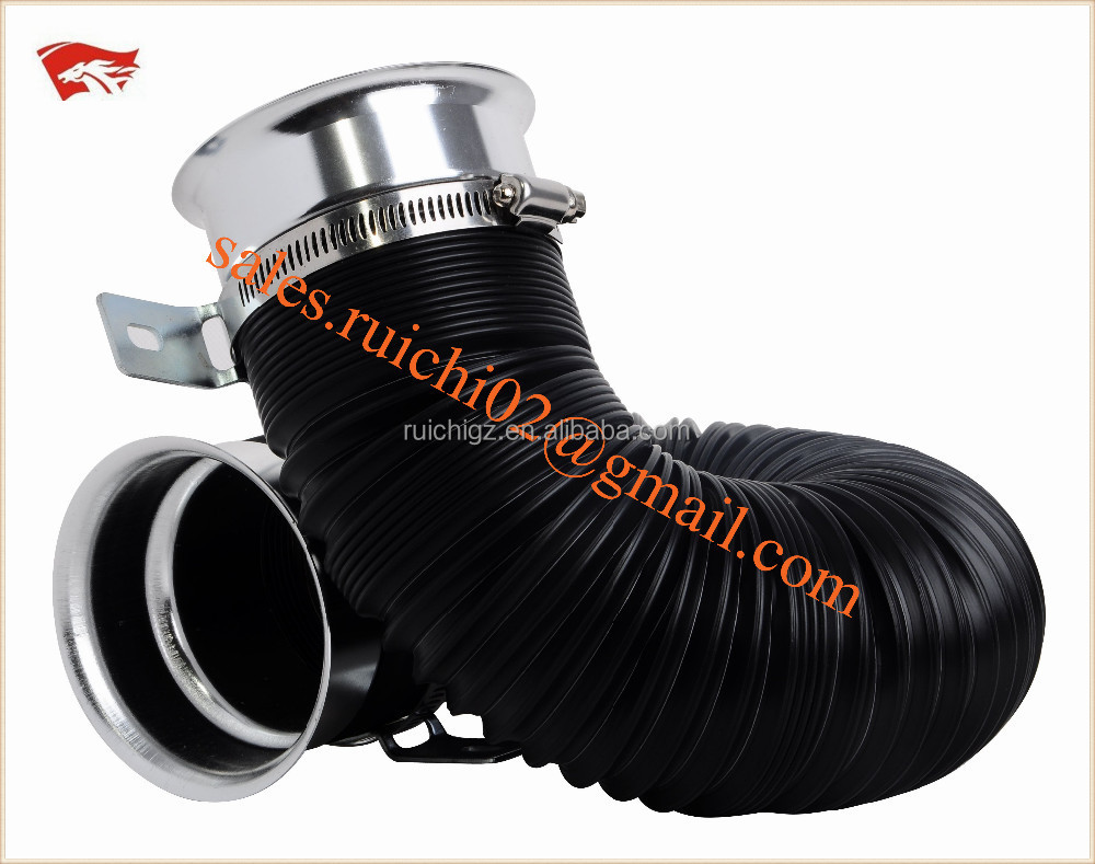 universal aluminum rubber car air filter intake pipe