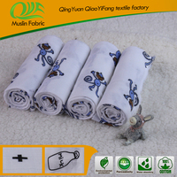 European hot recycled organic breathable 100% cotton printed muslin fabric factory for sale