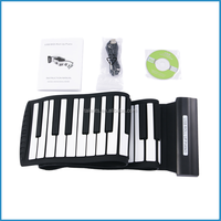 Foldable USB midi roll up piano for children