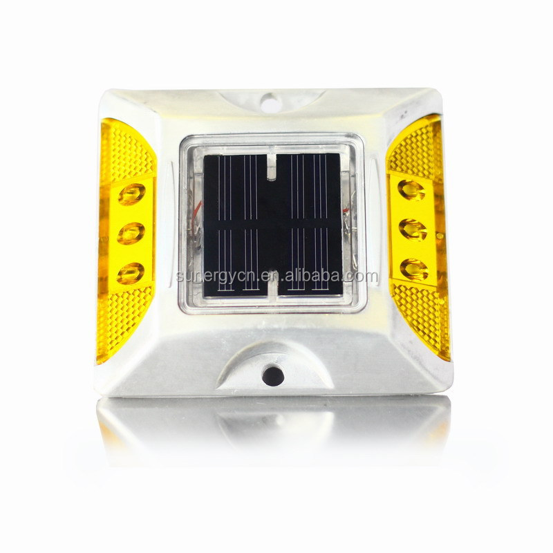 Hi-temperature Ni-mh Battery 6 LED Aluminum flashiing solar road traffic safety studs