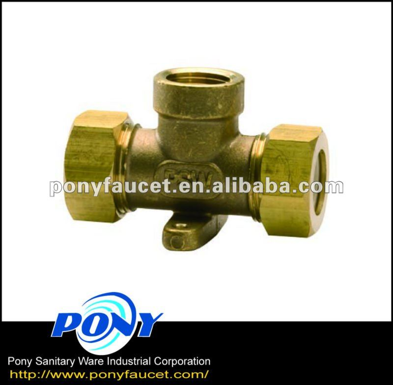 Stainless steel pipe fitting Taiwan made copper pipe fitting 3 way copper brass tee connector pipe fitting