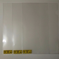 clear promotional cleanroom paper file document holder a4 size L shape clear pp plastic file folder