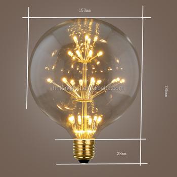 G150 Big Globe Led Firework Light Lamp 3w Vintage Edison Style Led ...