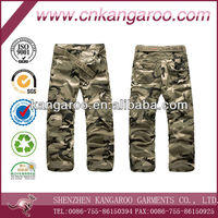 Men's 65% polyester 35% cotton camouflage military pants