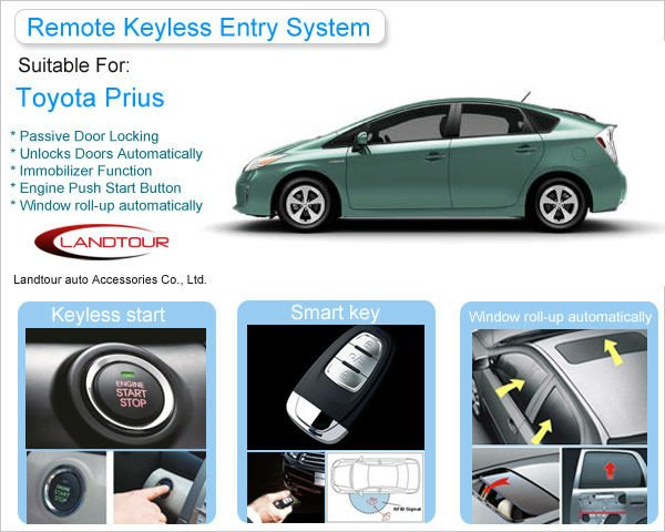 Auto Remote Control Keyless Entry System with Smart Key for Toyota Prius