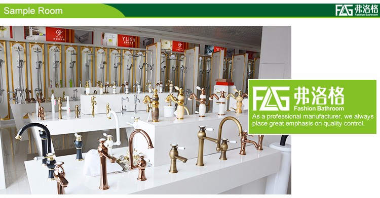 FLG sanitary ware best selling classical antique brass basin faucet