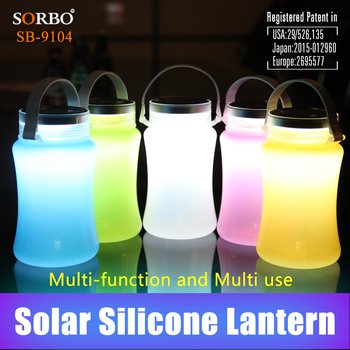 2016 Newest Inflatable Solar LED Lantern for Outdoor Emergency Rechargeable LED Camping Lantern with CE and RoHS Certified