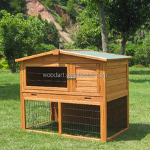 High quality red color of wooden rabbit cages bunny coop and house for sale