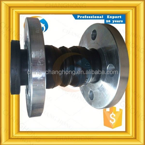 PN10 carbon steel double sphere flexible rubber joint forged flange
