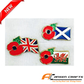 fashion metal poppy pin badge