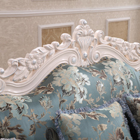 China Noble Palace French Style Carving White Sofa Frame Foshan City Floral Sofa Manufacturers
