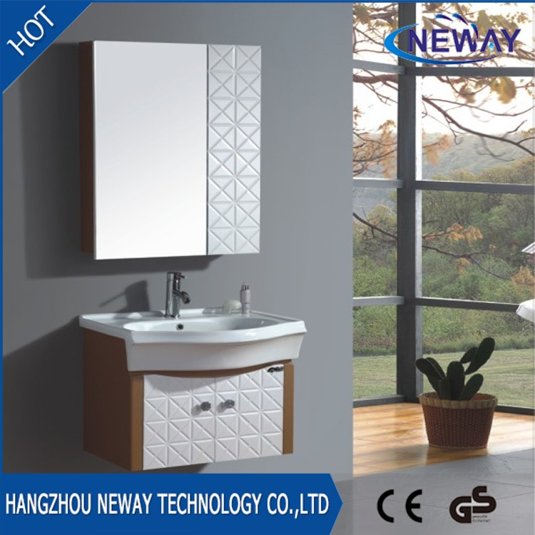 Wall mounted pvc ready made bathroom sink cabinets