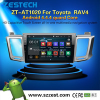 10.2 inch Android 4.4.4 car entertainment system for Toyota Rav4 car stereo car gps with Steering wheel control GPS 3G Wifi BT
