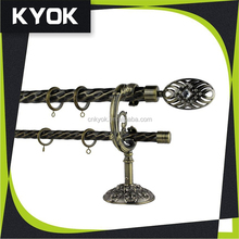 classic curtain rod set,antique design curtain rod finial,curtain rail accessories