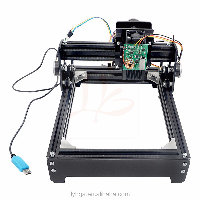 Assembled 15W <strong>laser</strong> 15000MW diy <strong>laser</strong> engraving machine 14*20cm metal engraver marking machine metal carving cnc router machine