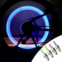 Wholesale Car Tire Valve Cap Light Led Valve Cap For Bike Wheel Light