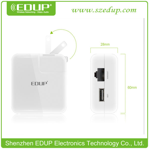 EDUP EP-2908 150Mbps Portable Mini Wireless AP/ Router for Business & Travel