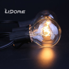 110V UL G40 Edsion E12 String Globe Holiday Lights For Outdoor Garden Use