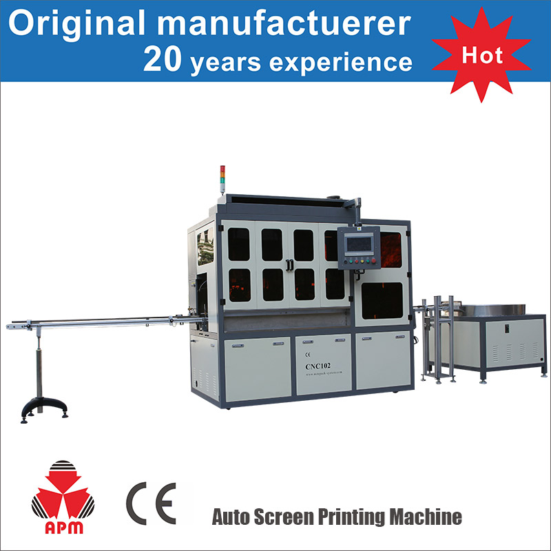 Professional factory Electronic UV system rotary screen printing machine