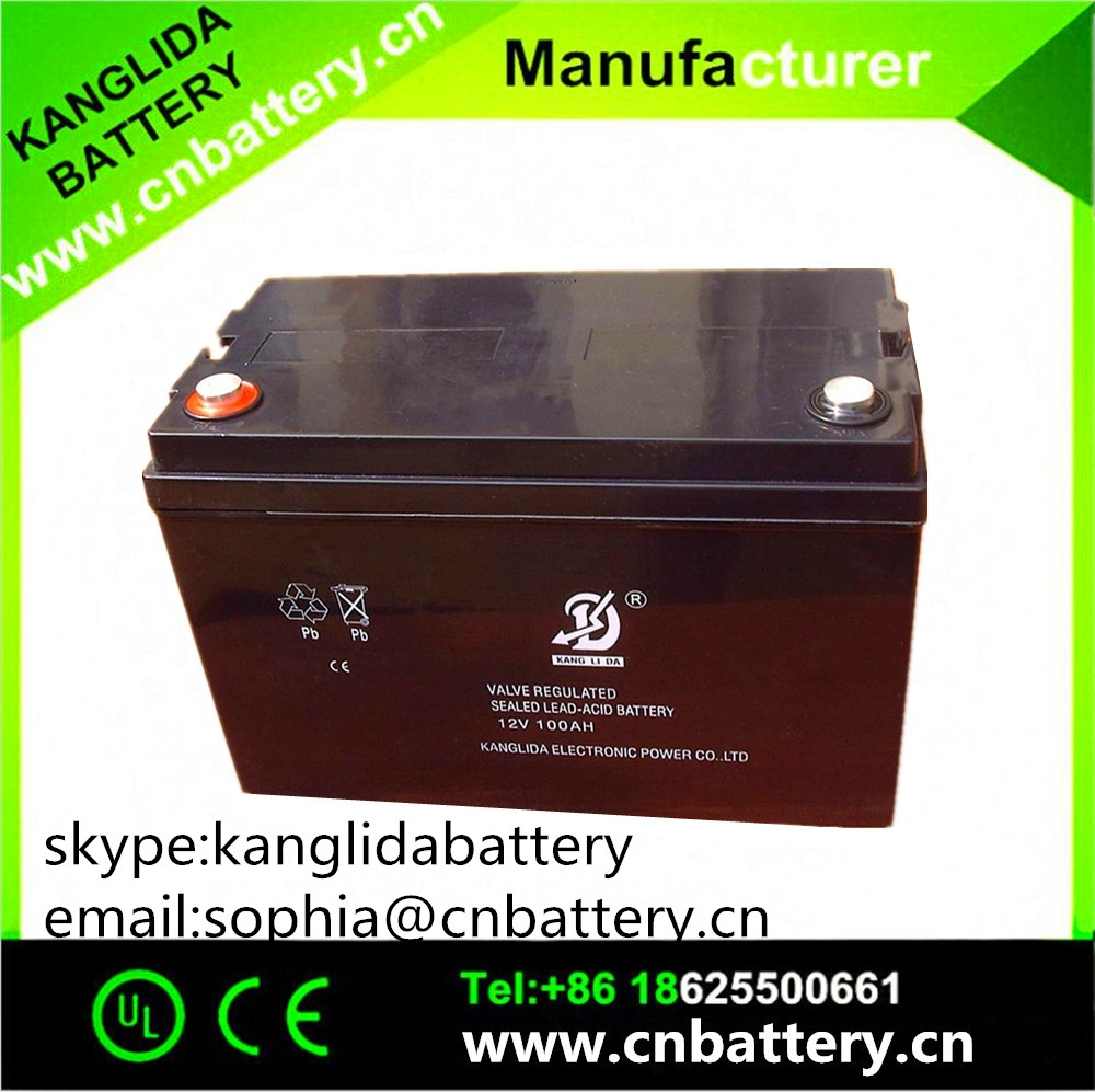 12v 100ah solar power sytem battery , UPS batteries made in china