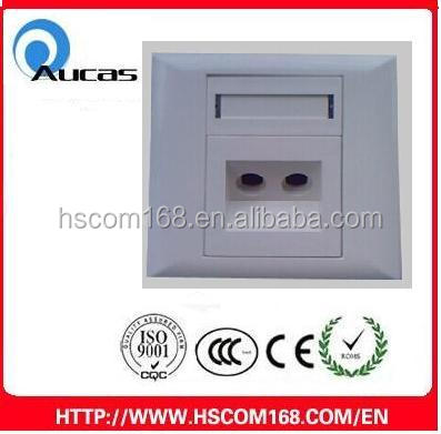 wall outlet fiber optic face plate