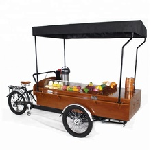 electric coffee bike for factory direct sale/made in China mobile coffee cargo bike