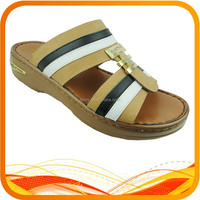 high quality male pu chappal slipper sandals