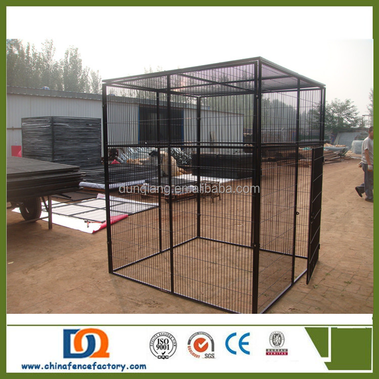 ISO9001 Factory wholesale Heavy duty galvanized outdoor Metal Wire Dog Kennel
