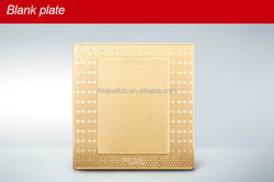 Hot sale 3D honeycomb design dazzle light champagne gold blank plate