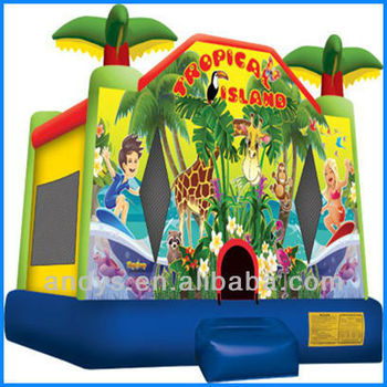 Tropical Island Paradise inflatable bouncer,new inflatable bouncer castle